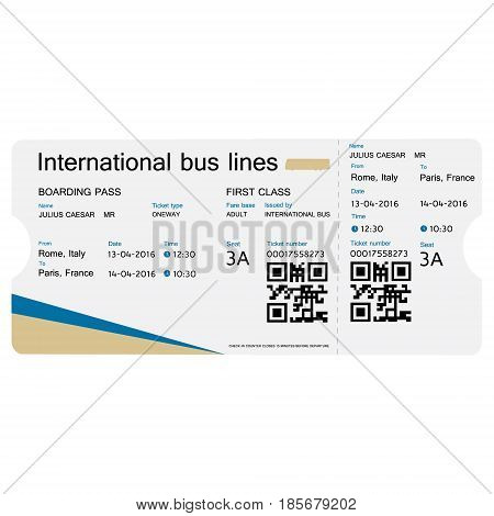 Bus Ticket Vector