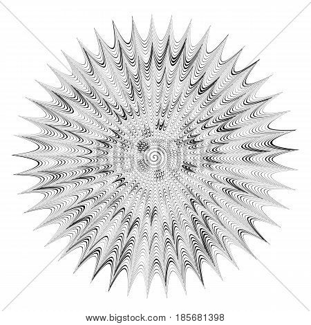 Abstract circle banner. Black and white. Vector illustration