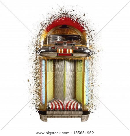 Old Jukebox Music Player Exploded