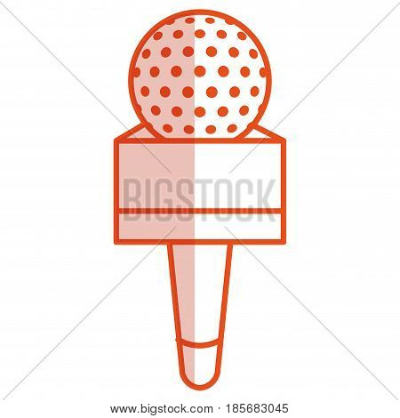 Journalism microphone isolated icon vector illustration design