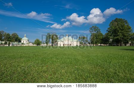 Oranienbaum is a Russian royal residence located on the Gulf of Finland west of Saint Petersburg Russia. The Palace ensemble are UNESCO World Heritage Sites