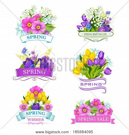 Spring Flowers Vector Photo Free Trial Bigstock