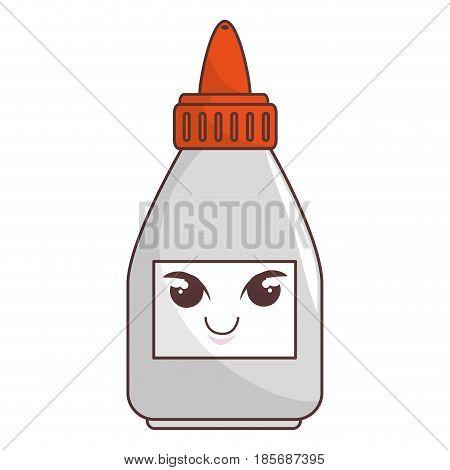 glue bottle comic character vector illustration design