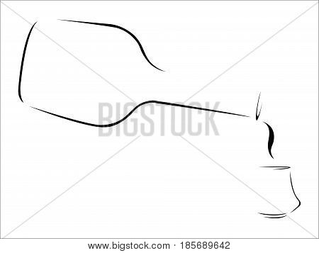 Splash of Brandy- abstract stylized brandy pouring