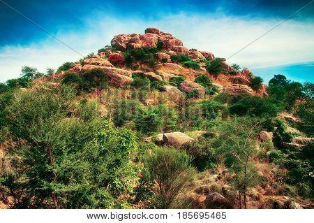 Fantasy World. Fabulous Unusual Mountain Landscape