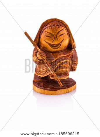 Idol of the aborigines of Kamchatka: Koryaks and Itelmen on white