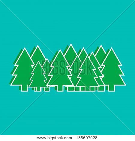 Christmas trees vector illustration, graphics, design web