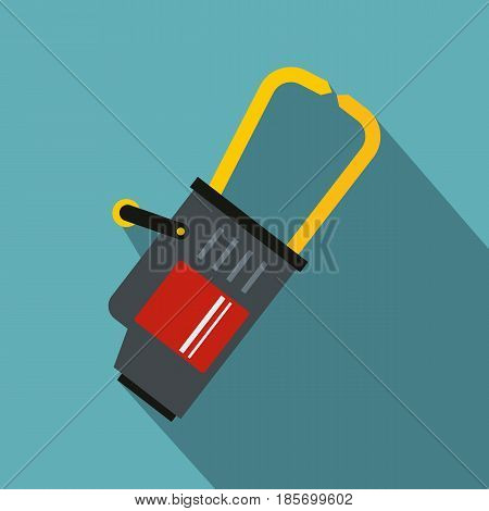 Welding equipment icon. Flat illustration of welding equipment vector icon for web on baby blue background