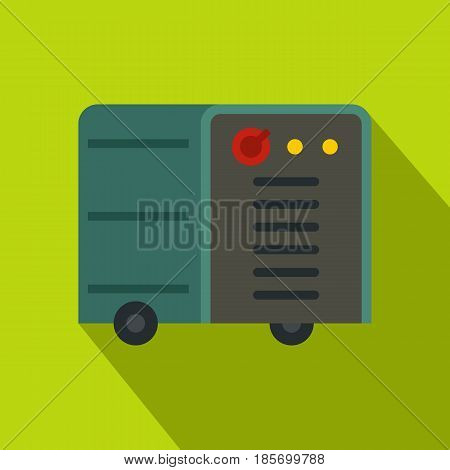 Inverter welding machine icon. Flat illustration of inverter welding machine vector icon for web on lime background