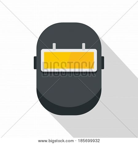 Welding mask icon. Flat illustration of welding mask vector icon for web on white background