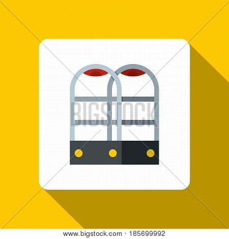 Shop security anti theft sensor gates icon. Flat illustration of shop security anti theft sensor gates vector icon for web