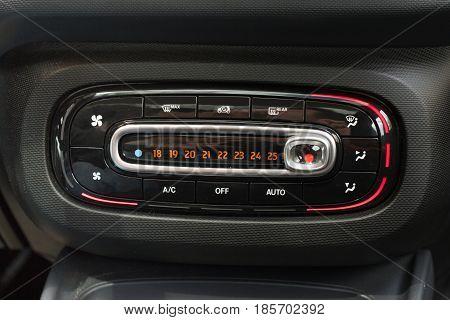 Smart Temperature control device on car center console