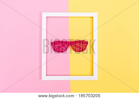 Shutter Shades Sunglasses On A Vibrant Background