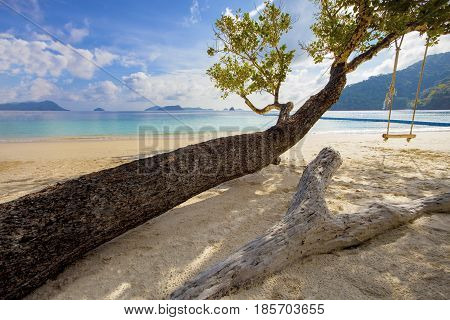 beautiful sea beach of nyuang oo phee island andaman sea myanmar