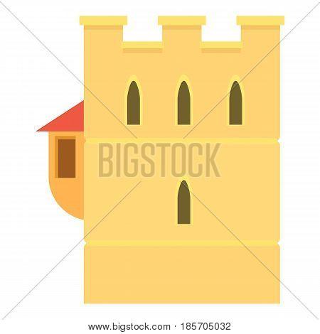 Ancient fortress icon. Cartoon illustration of ancient fortress vector icon for web