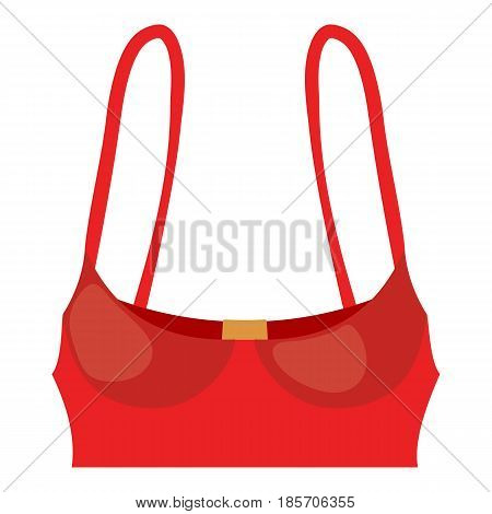 Red bustiers icon. Cartoon illustration of red bustiers vector icon for web