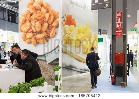 People Visit Tuttofood 2017 In Milan, Italy
