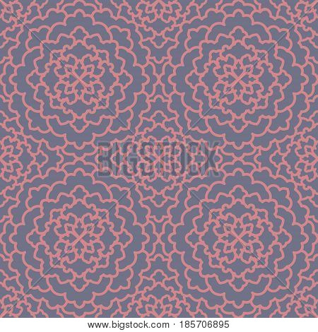 Abstract Seamless Pattern. Vintage Ornament Pattern. Islamic, Arabic, Indian, Bohemian, Gypsy, Ottom