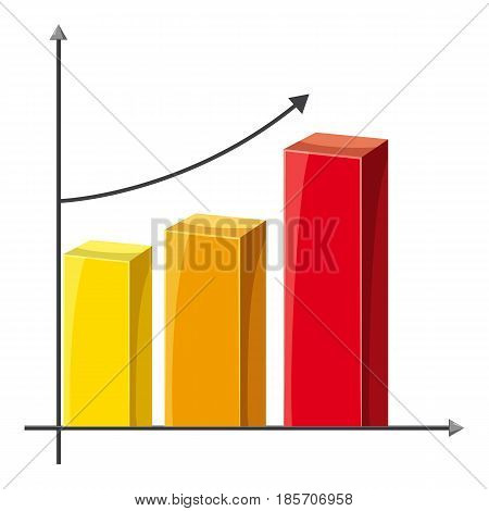 Business graph of growth icon. Cartoon illustration of business graph of growth vector icon for web
