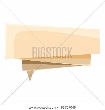 Origami speech bubble i icon. Cartoon illustration of origami speech bubble i vector icon for web