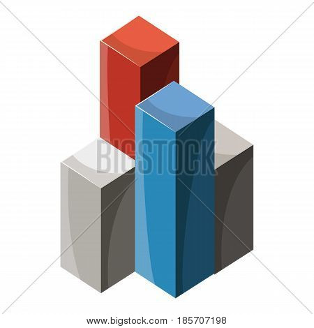 Business graph icon. Cartoon illustration of business graph vector icon for web