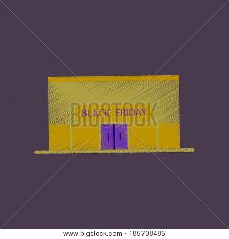 flat shading style icon Shop Black Friday