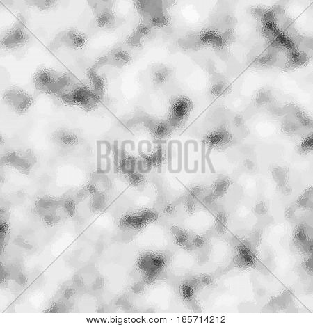 White and grey glass vector texture. Winter snow or cloudy sky vector background. Dotted foggy grayscale backdrop. Monochrome stone texture. Black and white cloudy effect for web or digital design