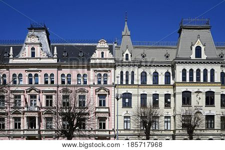 Riga, Elizabetes 15-17, historical buildings decorative elements, the end of the 19th century