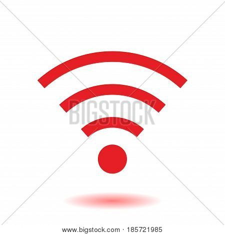 Wifi Symbol. Vector wireless network icon. Flat design style.