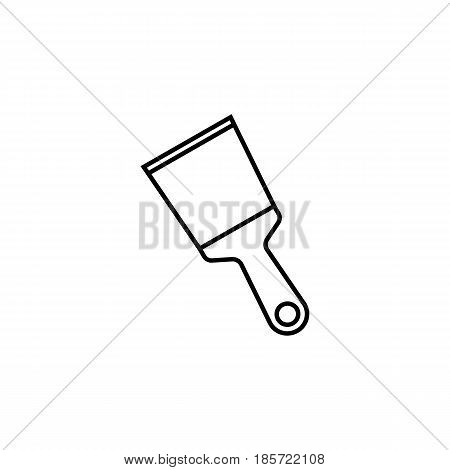 Spattle and Scraper line icon, build repair elements, construction tool, a linear pattern on a white background, eps 10.