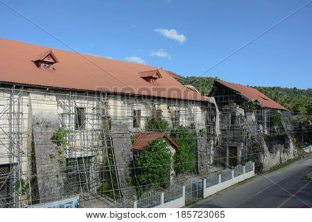 Old destroyed church in Loboc, Bohol, Philippines