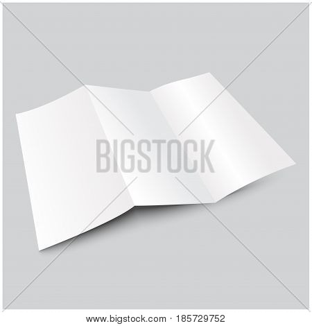 a4 blank trifold paper brochure. Mock-Up for your design