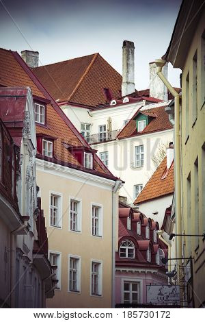Tallinn capital of Estonia medieval old town