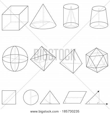 Vector Set Of Geometrical Shapes