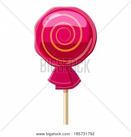Lollipop icon. Cartoon illustration of lollipop vector icon for web