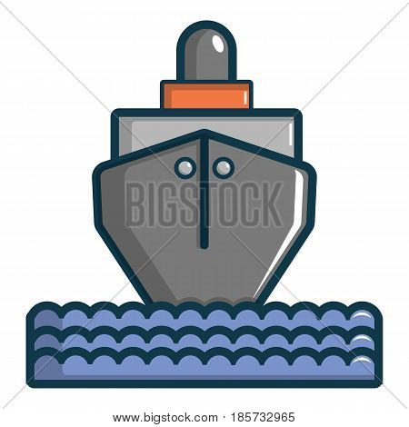 Oil tanker icon. Cartoon illustration of oil tanker vector icon for web