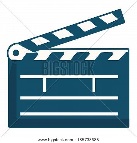 Clapboard, icon. Cartoon illustration of clapboard, vector icon for web