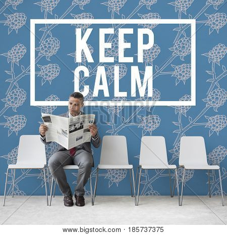 Keep Calm Stay Cool Be Patient Serene Peaceful