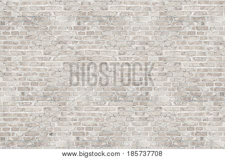 White wash brick wall texture for design. Background for your text or image.
