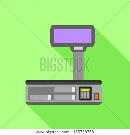 Electronic scales for weighing food icon. Flat illustration of electronic scales for weighing food vector icon for web