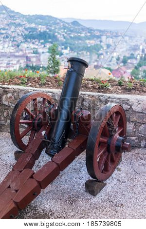 Traditional Sarajevo cannon for iftar announcing