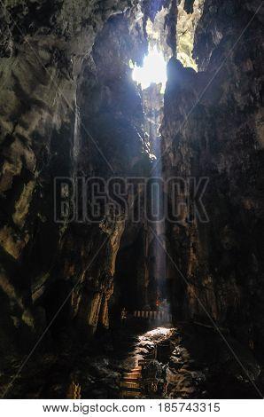 Interior of the Batu Caves near Kuala Lumpur Malaysia