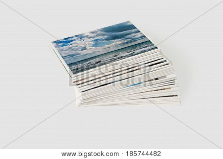Set photo cards. Isolated on a gray background.