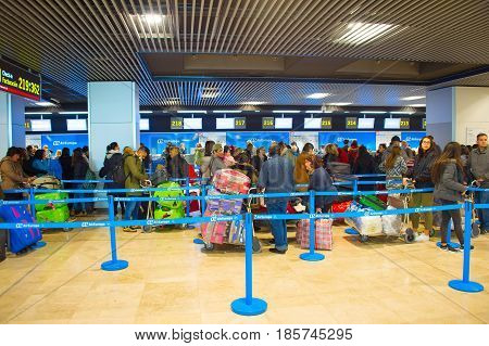 Check-in Counter In Airport