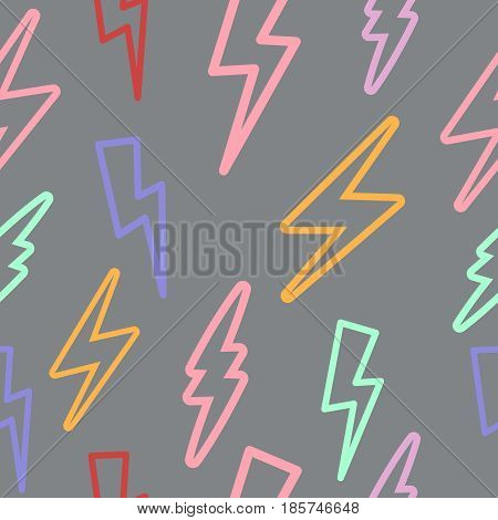 seamless texture with lightning. linear lightning. line drawing. background. texture. a natural phenomenon