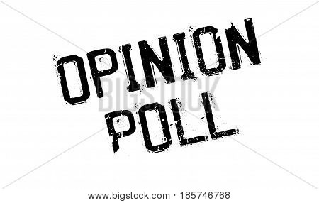 Opinion Poll rubber stamp. Grunge design with dust scratches. Effects can be easily removed for a clean, crisp look. Color is easily changed.