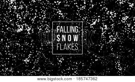 Snow Splash Background. Winter Snowed Vector Illustration. Falling Christmas White Snowflake