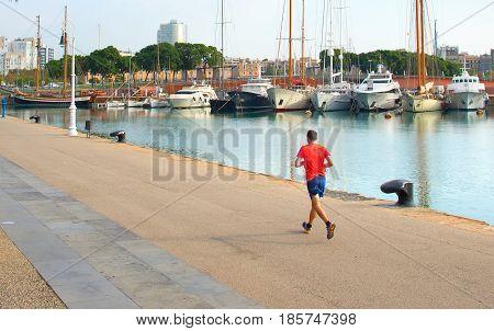 Running In Yachts Marina