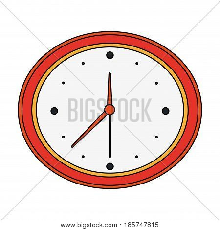 color image cartoon analog wall clock vector illustration