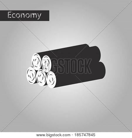black and white style icon firewood business